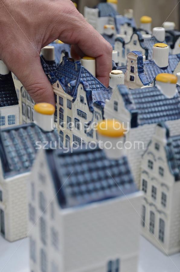 White KLM pottery houses - Adam Szuly Photography